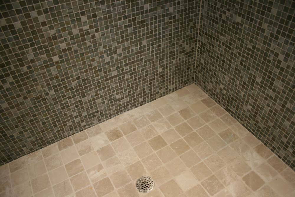 green_small_tile_shower